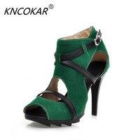 Милые женские сандалии украшения модные Универсальные ремень hasp тонкие каблуки скольжению резиновая подошва скраб ткани женская обувь