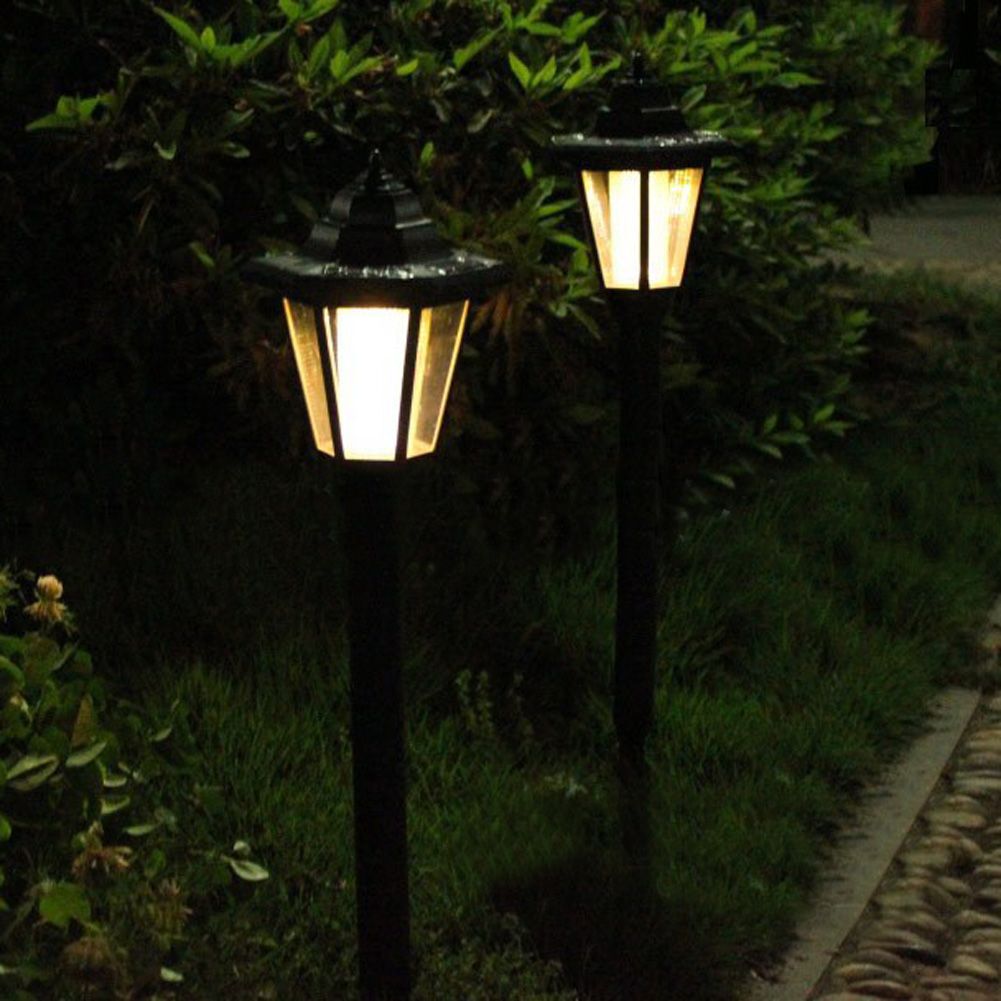 Solar power led lamp path way landscape white warm white for Luces led jardin