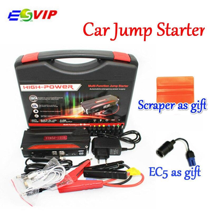 Haute qualité Portable puissance voiture saut démarreur voiture saut démarreur 4USB chargeur portatif batterie chargeur pour ordinateur Portable et téléphone Portable