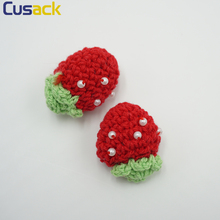 6 pieces Cherries Shape Handmade Patches Lace Applique for Costumes Dresses Trimmings Edge Lace Fabric Sewing on Cusack