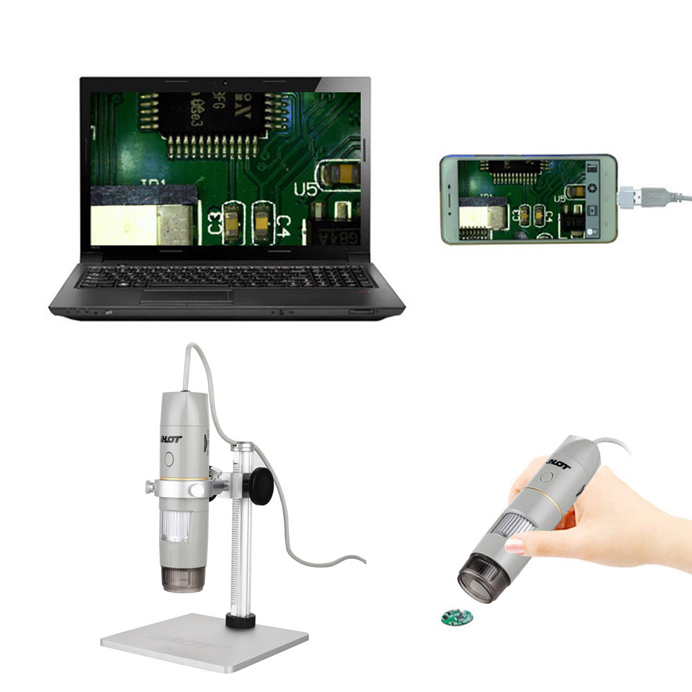Facial Cleaning Tools 2017 USB Digital Microscopes 500X Endoscope Video Camera Magnifier Electronic Microscope 600x digital electronic microscope portable 3 6mp mobile phone microscopes hd pcb motherboard repair magnifier al alloy stent