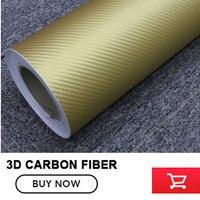 1.52*30 m Altın 3D Karbon Fiber Film Vinil Sticker Araç Gövde/İç Dekorasyon 3D Karbon Fiber Sarma Film 12 Renk