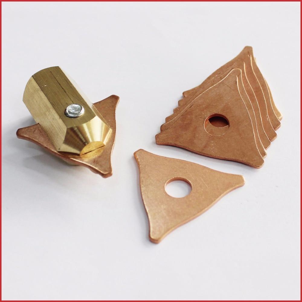 tri hook washer 3 point dent puller electrode chuck dent pulling system stud welders spot welding uni spotter triangle pads kit