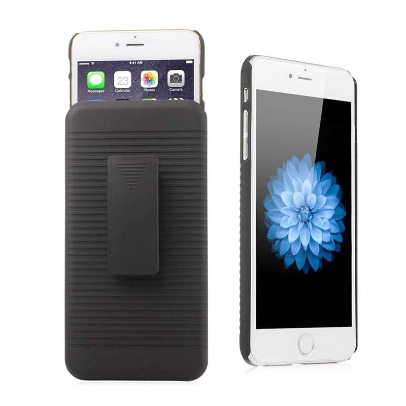 6ce609a1f Para o iphone 7 Plus Caso Clipe Para Cinto Genuíno Preto Armadura Proteger  Coldre Capa Protetora de Plástico Rígido em Coldres   Clipes de Celulares  ...