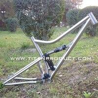 Quadro de titânio mtb suspensão completa|Quadro da bicicleta|Esporte e Lazer -