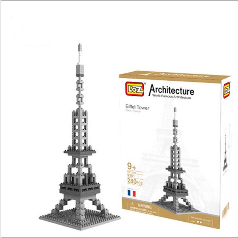 Eiffel Tower Pisa Tower Small Granule Plastic Building Blocks DIY Adult Educational Toys Free Shipping