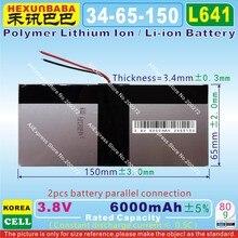 [L641] 3,8 в, 3,7 в 6000 мАч [3465150] полимерный литий-ионный/литий-ионный аккумулятор для планшетных ПК, банка питания, сотового телефона