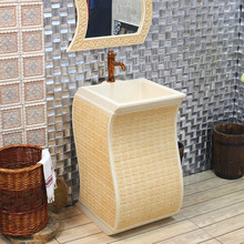 цены Fashion balcony meaka wash basin artificial stone wash basin bathroom pedestal basin