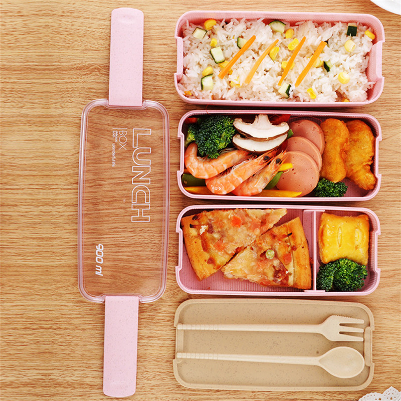 Lunch Boxes Containers for Food Microwave Bento Box For Kids Picnic Food Containers Portable Food Storage Box Lunch Box 900mlLunch Boxes Containers for Food Microwave Bento Box For Kids Picnic Food Containers Portable Food Storage Box Lunch Box 900ml