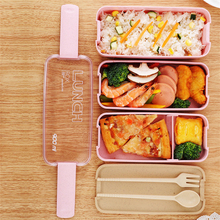 Lunch Boxes Containers for Food Microwave Bento Box For Kids Picnic Portable Storage 900ml
