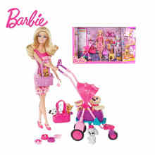 Barbie Gir Fashion Combo American Girll Creative Designer Superhero To Princess Animal Set Bonecas Barbie Doll Baby Toys BCF82 2018 barbie animal rescuer doll