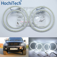 Ultra bright SMD white LED angel eyes halo ring kit daytime running light DRL for Ssangyong Rexton 2006 2011