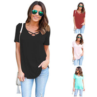 Summer Maternity T-shirt For Pregnant Women Cotton Pregnancy T-shirt Clothes Women Loose Tee Shirt Femme V-neck Tope Sell B0179