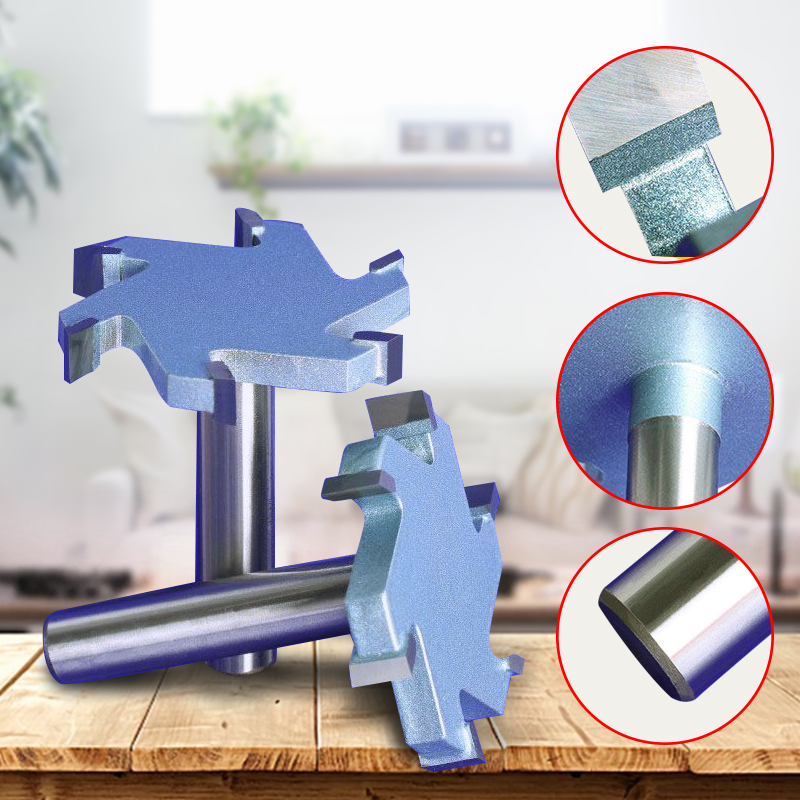 1 / 2 inch 4T or 6T woodworking router bit tungsten carbide T type cutter wood carving tools, CNC tool bit tungsten alloy steel woodworking router bit buddha beads ball knife beads tools fresas para cnc freze ucu wooden beads drill