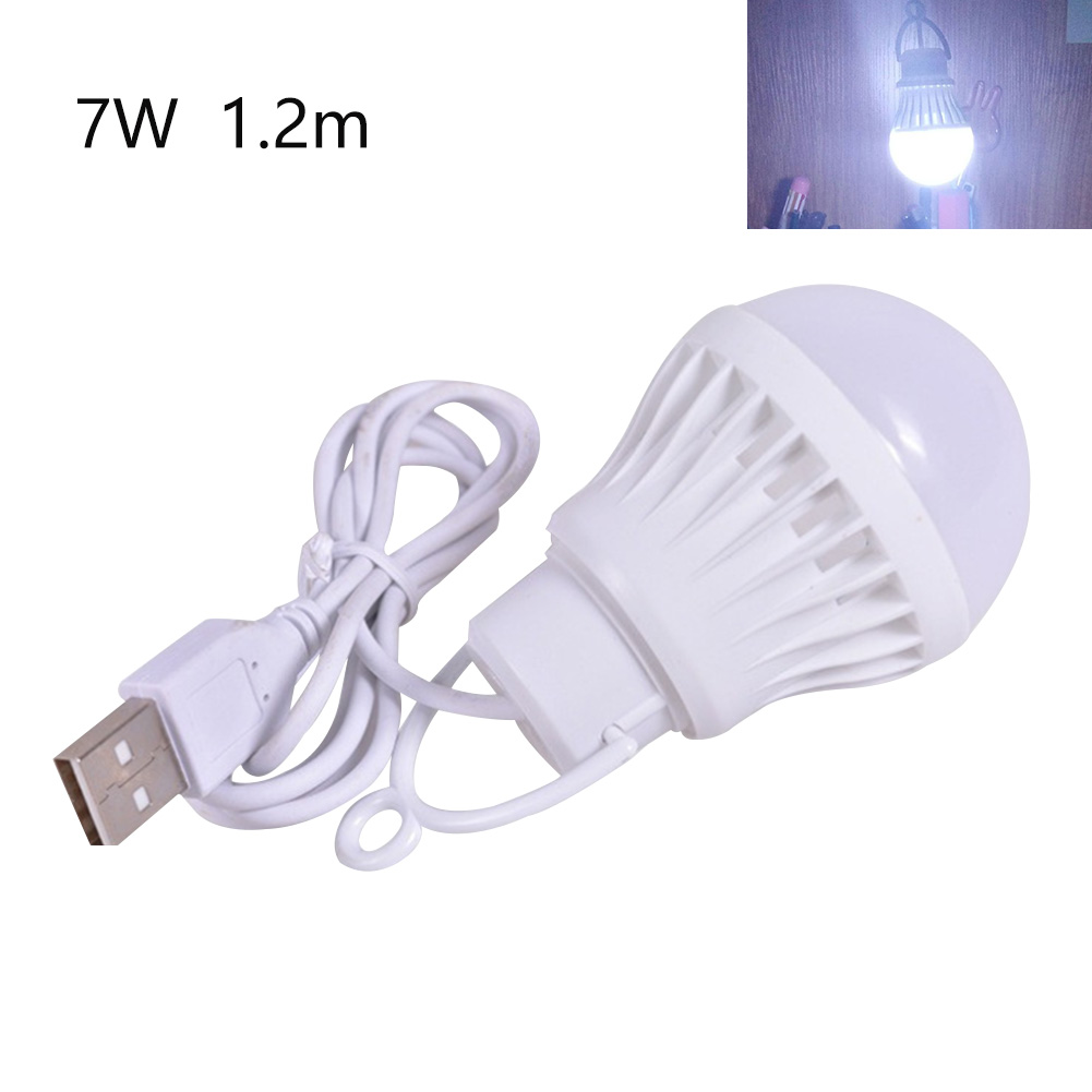 USB Interface Reading LED Bulb Hiking Useful Low Voltage Simple Night Light Outdoor Camping Universal Portable Illumination