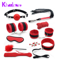 10 Pcs/Set New Sex Bondage fetish Kit Restraints Women Adult Games Sexy Toys for Couples Whip Foot Handcuffs Sex Tools for Sale