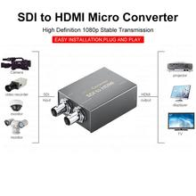 2-way Micro Converter SDI To HDMI With Power Two SDI In To HDMI Output Mini 3G HD SD-SDI Video Converter Adapter Support 1080P av capture analog to digital video recorder converter with av hdmi output to for micro sd tf card