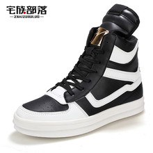 2016 Designer Autumn Winter Men High Top White Casual Shoes Male Outdoor Footwear Fashion Leather Ankle Boots Men Trainers