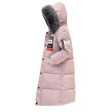 Зима новый пуховик женщин меховой воротник пальто Корейской утолщение куртка студенты пальто