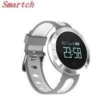 Smartch DM58 Водонепроницаемый IP67 Смарт-часы крови Давление монитор сердечного ритма bluetooth запястье умный Браслет