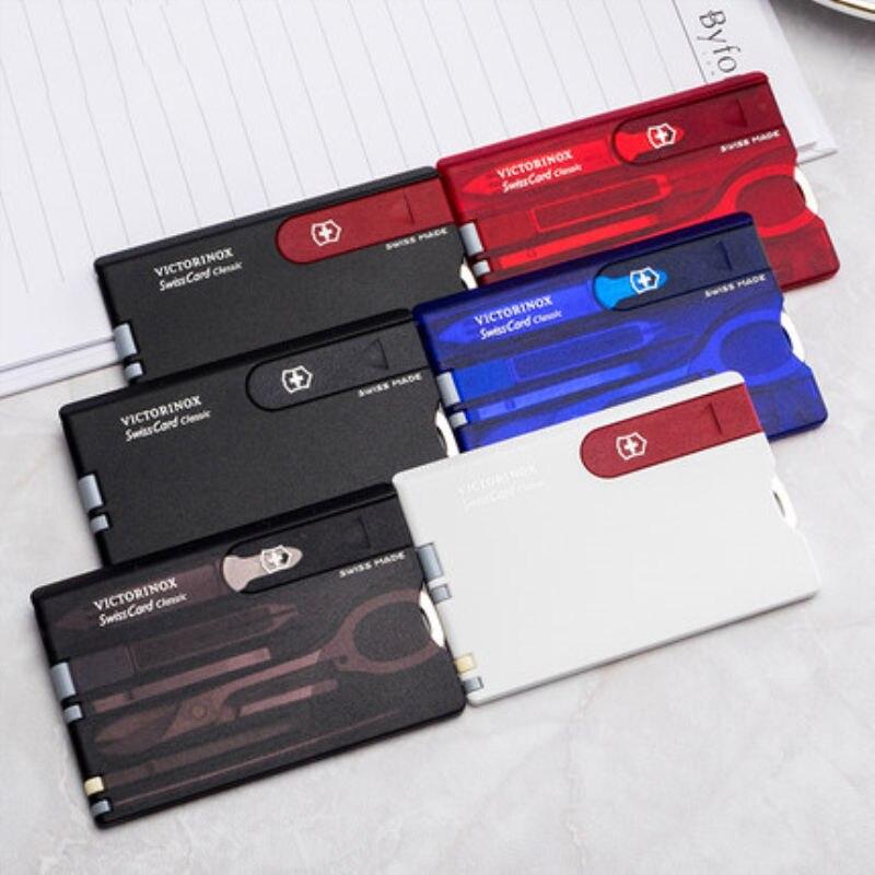 La meilleure vente authentique multi-fonction suisse carte de couteau en plein air camping survie outil carte de combinaison couteau