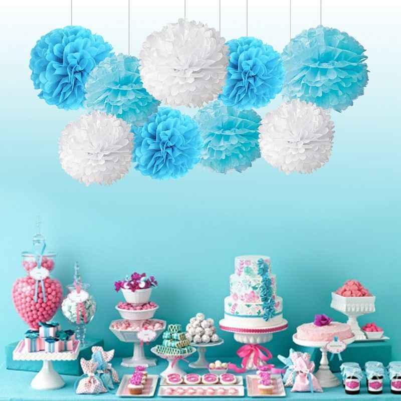 4-6-8-10-12-14inch Papel Tissue Pompons Flor Balls para o Casamento da Festa de Aniversário Decoração de Natal Dia Das Bruxas Papel Pom Poms
