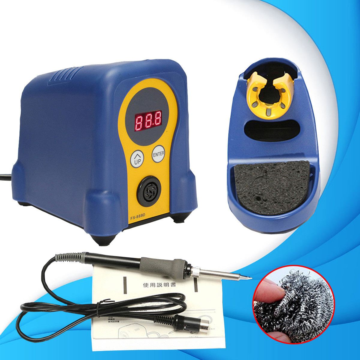 Digital Display Soldering Station Iron With Stand Repair Tool 70W 220V Adjustable Temperature Control Durable Quality digital indoor air quality carbon dioxide meter temperature rh humidity twa stel display 99 points made in taiwan co2 monitor