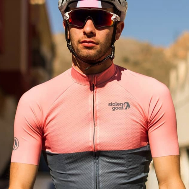 Stolen goat Men's Pink Cycling Jersey MTB competition clothing tops Summer short sleeve bike racing shirt la passione ciclismo