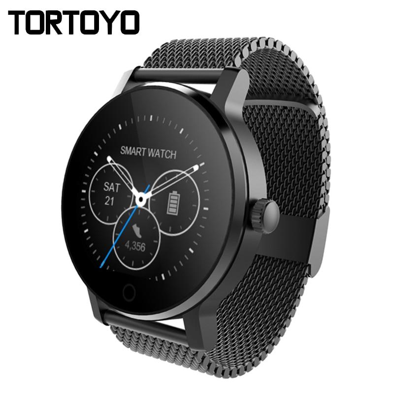 TORTOYO Nouvelle Montre Smart Watch SMA09 Bluetooth Smartwatch Sport Moniteur de Fréquence Cardiaque Montre-Bracelet Téléphone Anti Perdu Push pour iPhone Android