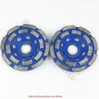 2pcs 100MM Diamond Double Row Cup Wheel For Granite Hard Material Diameter 4inch Grinding Wheel Bore