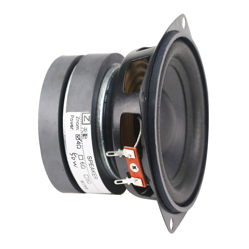 Ghxamp 4 inch 4OHM 50W Subwoofer Speaker Woofer Long Stroke Car audio Home Theater High Power Speaker 2PCS