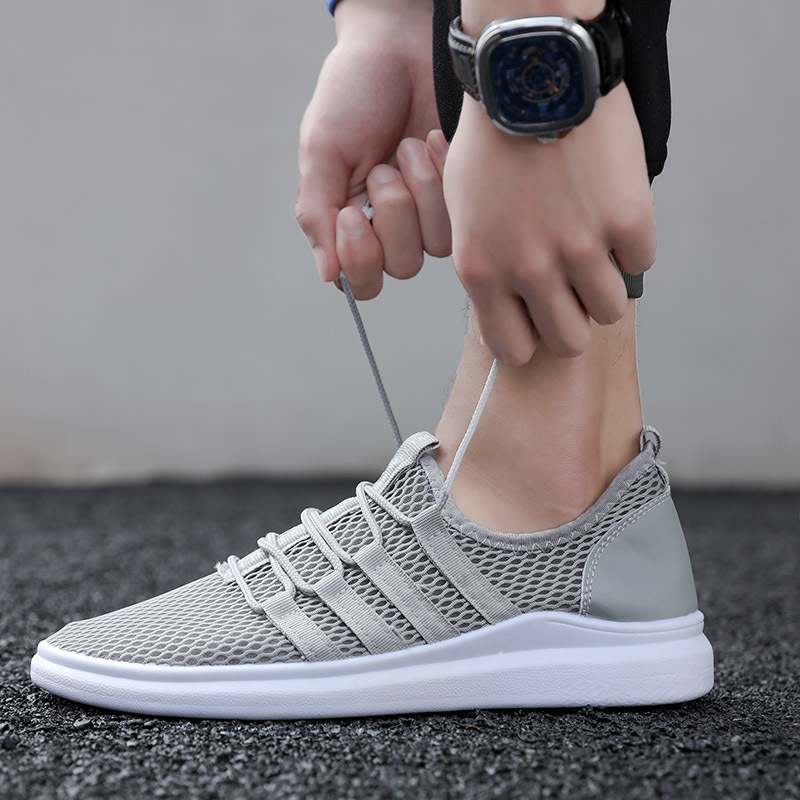 new mens casual shoes breathable light loafers Male 2018 sneakers adult Non-slip Footwear air mesh slip on fashion man shoes male lightweight breathable mesh slip on shoes