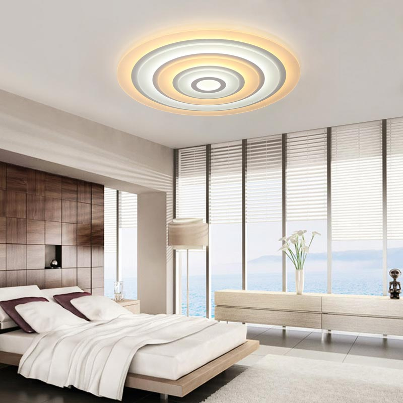 Modern Led Pendant Lamps Living Room Acrylic Fixture: Modern Led Ceiling Light Fixtures With Remote Control