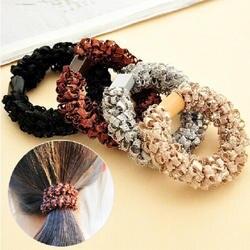 Для женщин Ультра эластичная повязка Hairband дамы Плетеный Scrunchie волос веревки резинкой Обувь для девочек Женские аксессуары для волос
