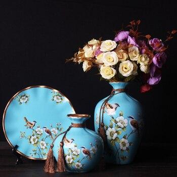 3pc/Set European style Ceramic Vase Nordic decoration home curio shelves flower vase centerpieces for weddings traditional Vases
