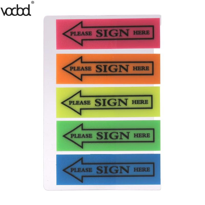100Pcs Self Adhesive Plastic Memo Pad Sticky Notes Bookmark Post It Marker Notepad Sticker Tag Office Papelaria School Supplies