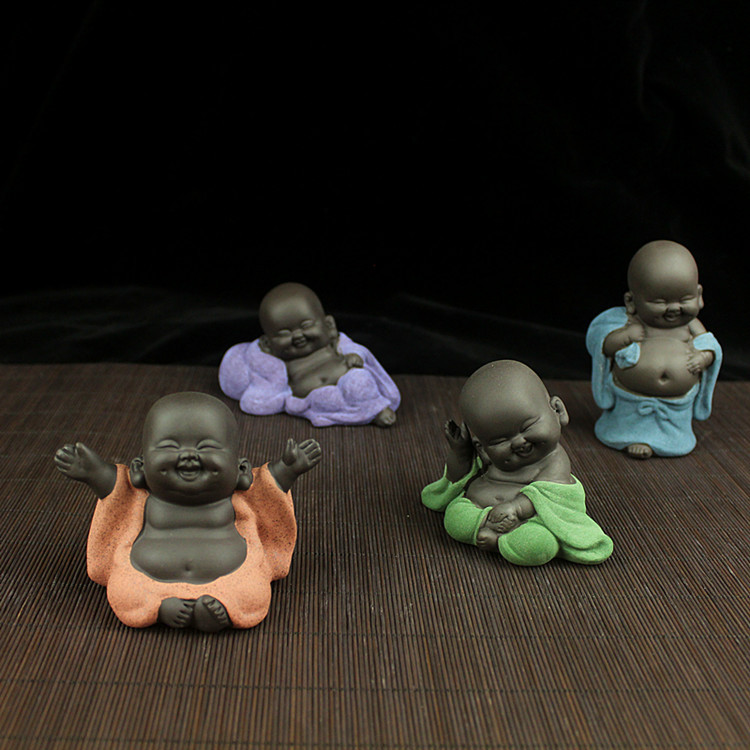 Cute Laughing Buddha For Home Decorations Tea Pets