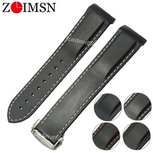 ZLIMSN Rubber Silicone Watch Bands For Omega Watch Seamaster Ocean 232 007 Buckle Strap Brand Watchband Sports 20mm 22mm