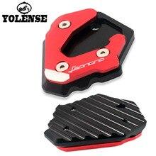 Мотоцикл с ЧПУ Алюминиевый подножка боковая подставка удлинитель опорная пластина для Benelli Leoncino 500 Leoncino500 BJ500 BJ 500