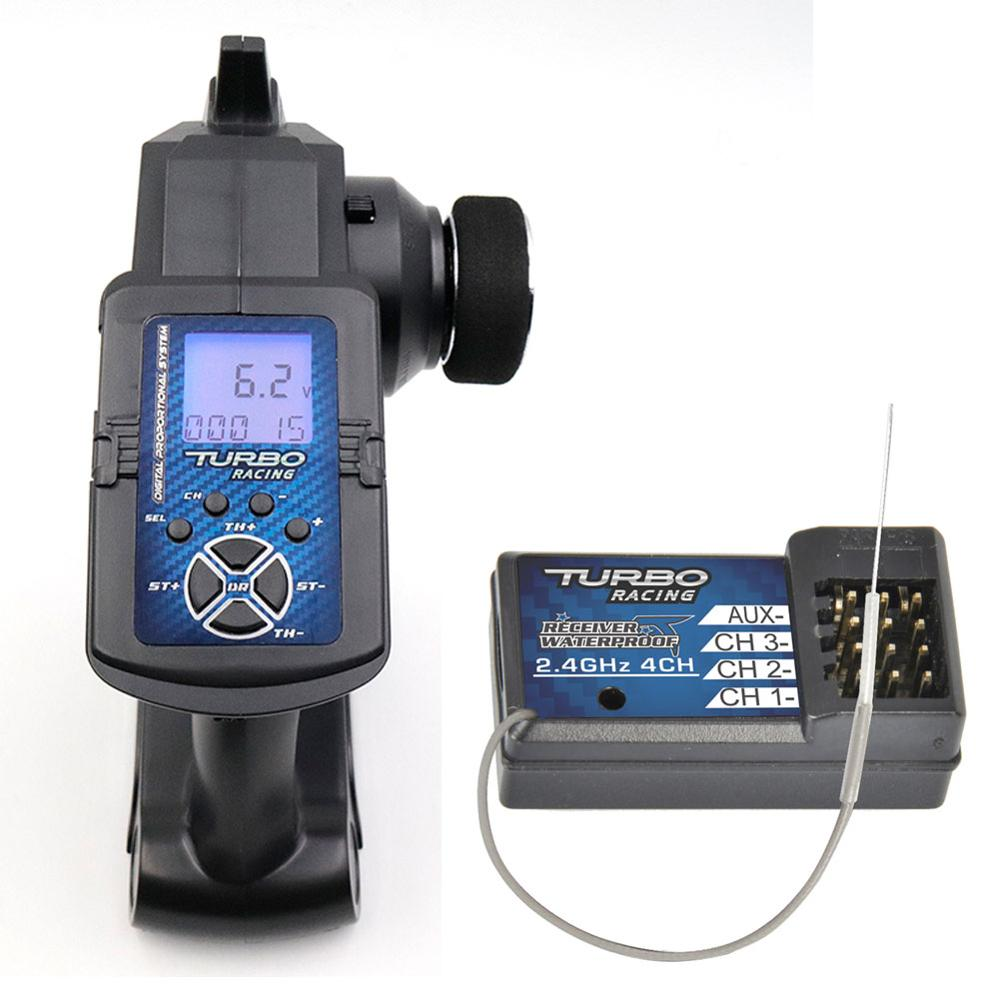 Waterproof 2.4G 3 Channels Transmitter Receiver Radio Remote Control for RC Car