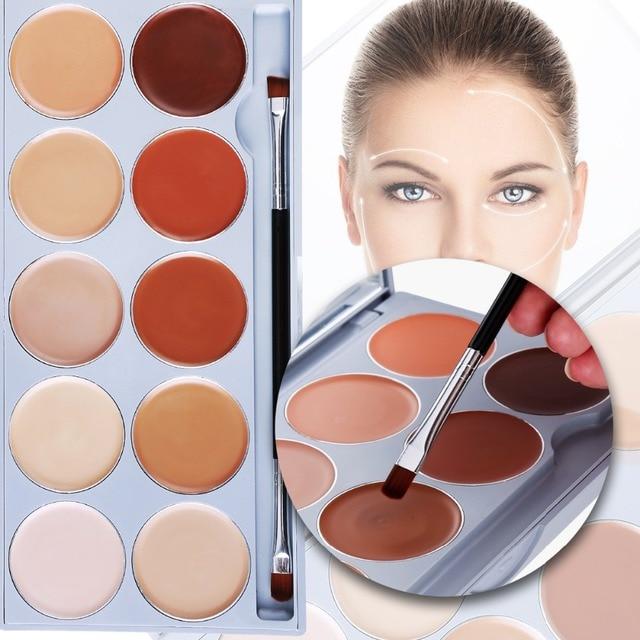 10 Color Contouring Makeup Kit Cream Based Professional Concealer Palette Face Make up Set Pro Palette High-end Formula