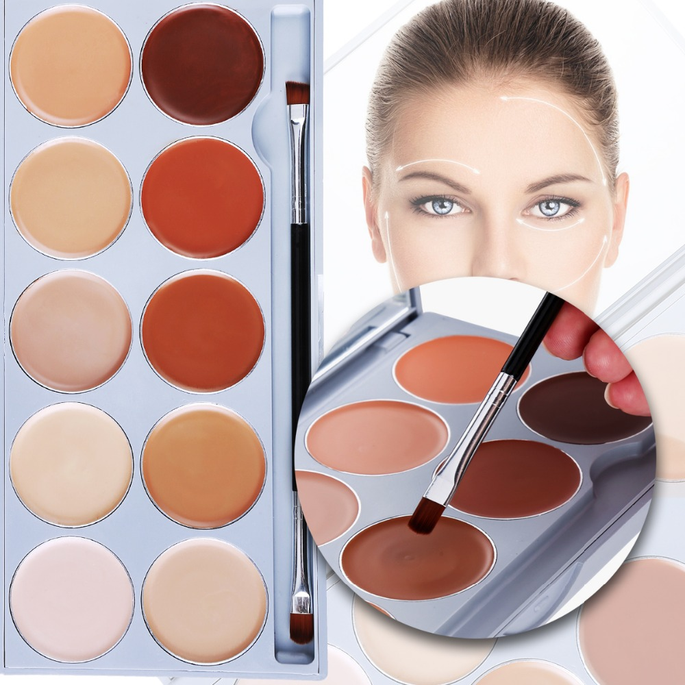 DE'LANCI 10 Color Contouring Makeup Kit Cream Based Professional Concealer Palette Face Make up Set Pro Palette High-end Formula цены онлайн