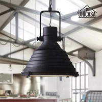 Холле отеля кованого железа промышленных огни Винтаж черный Освещение cebar Кухня остров люстра свет антикварной потолочный светильник