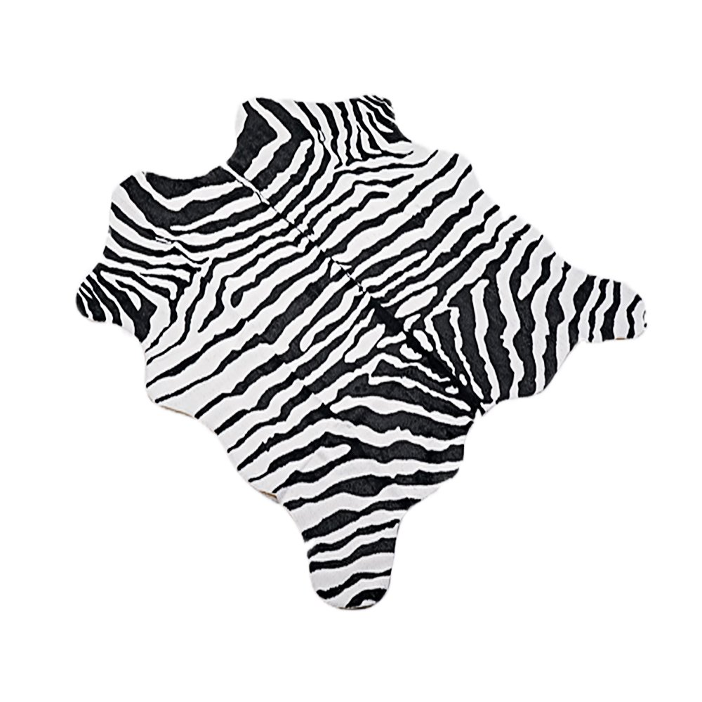 MustHome Faux Zebra Print Area Rug Feet Cute Soft Black And White Kids Bedroom Carpet For Jungle/Safari Theme 140x160