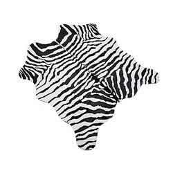 MustHome Faux Zebra drukuj obszar dywan stóp śliczne miękkie czarne i białe dzieci dywan do sypialni dla dżungla/Safari motyw 140x160|Dywany|   -