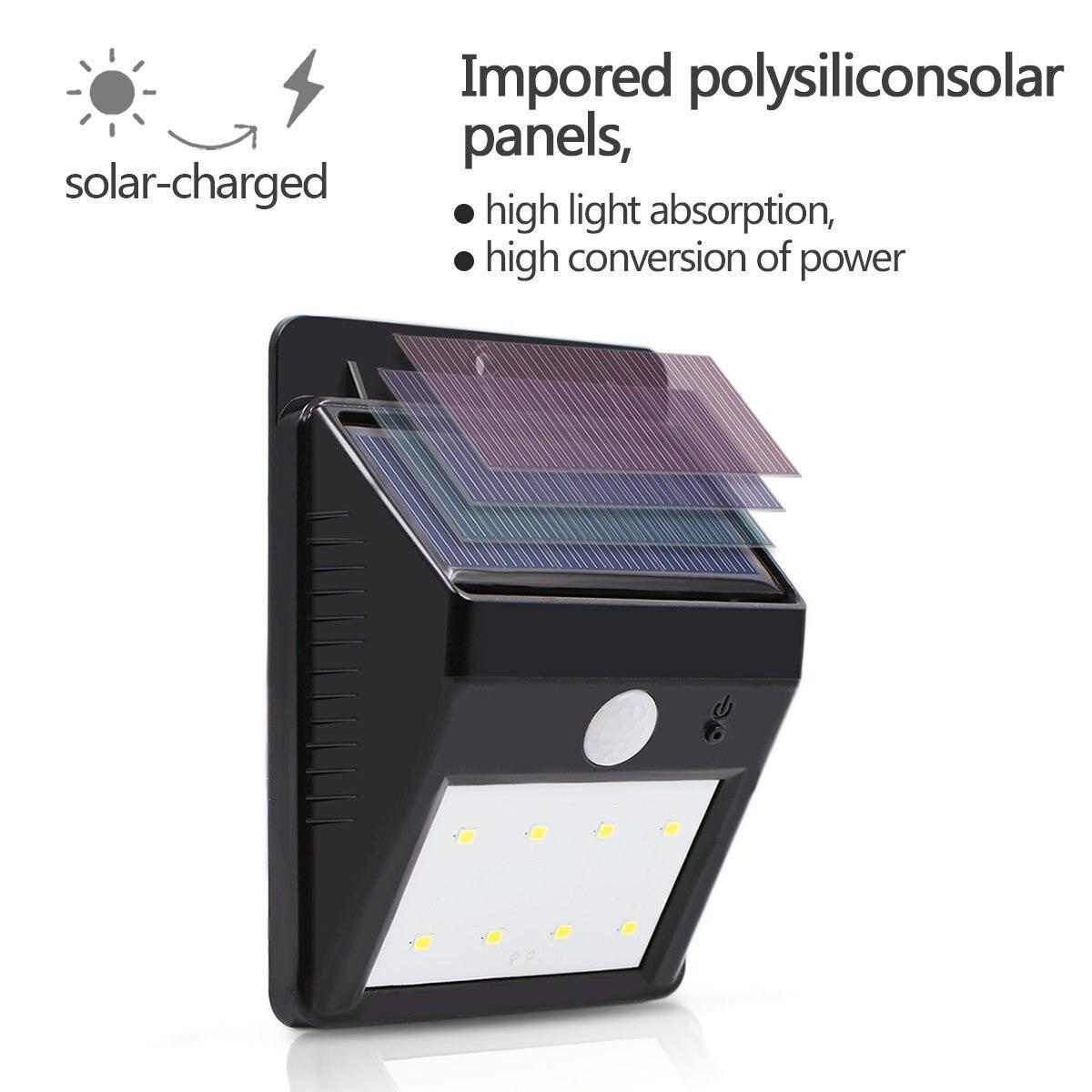 Lâmpadas Solares movimento de segurança sem fio Características : Solar Power