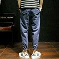 M-5XL Rabanete-calças 2017 Primavera Nova Chegada de Jeans Rasgado Para Homens calças de Brim Dos Homens Marca de Moda Slim Fit tornozelo-comprimento Jeans Homens J726