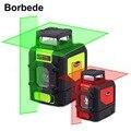 Лазерный уровень Borbede 360  автоматическое выравнивание  вертикальная/горизонтальная/поперечная линия  3D 5-линейный красный/зеленый лазер с ма...