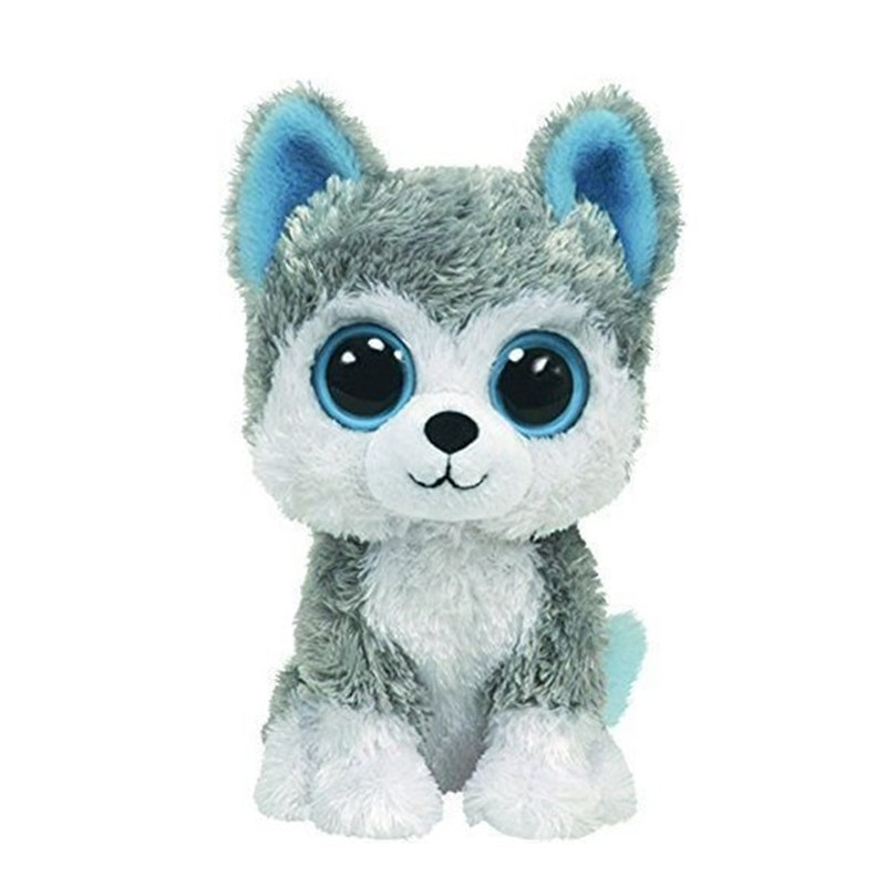 America TY Big eyes husky 15cm Plush toy Cute toy dog doll beanie series kids toys super cute plush toy dog doll as a christmas gift for children s home decoration 20
