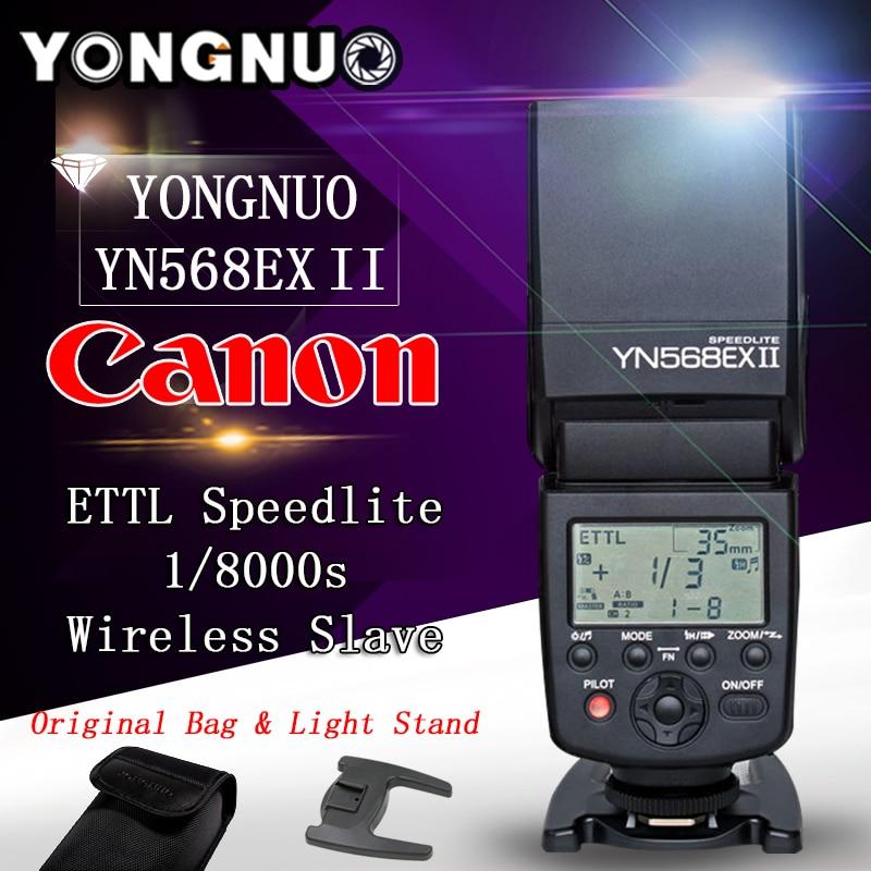 Yongnuo YN-568EX II TTL Master High Speed Sync 1/8000s Flash Speedlite for CANON 5D Mark II,III,5D2 5D3 6D 7D 60D 70D 700D 650D 2x yongnuo yn600ex rt yn e3 rt master flash speedlite for canon rt radio trigger system st e3 rt 600ex rt 5d3 7d 6d 70d 60d 5d
